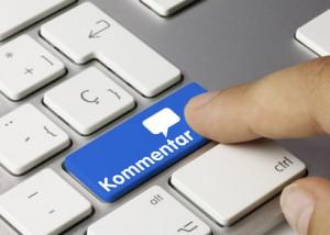 Kommentar tastatur. Finger