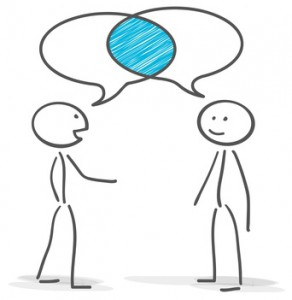stickman talking conversation